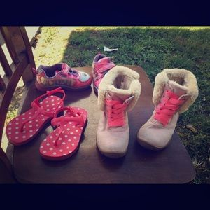 Girls shoes and clothes